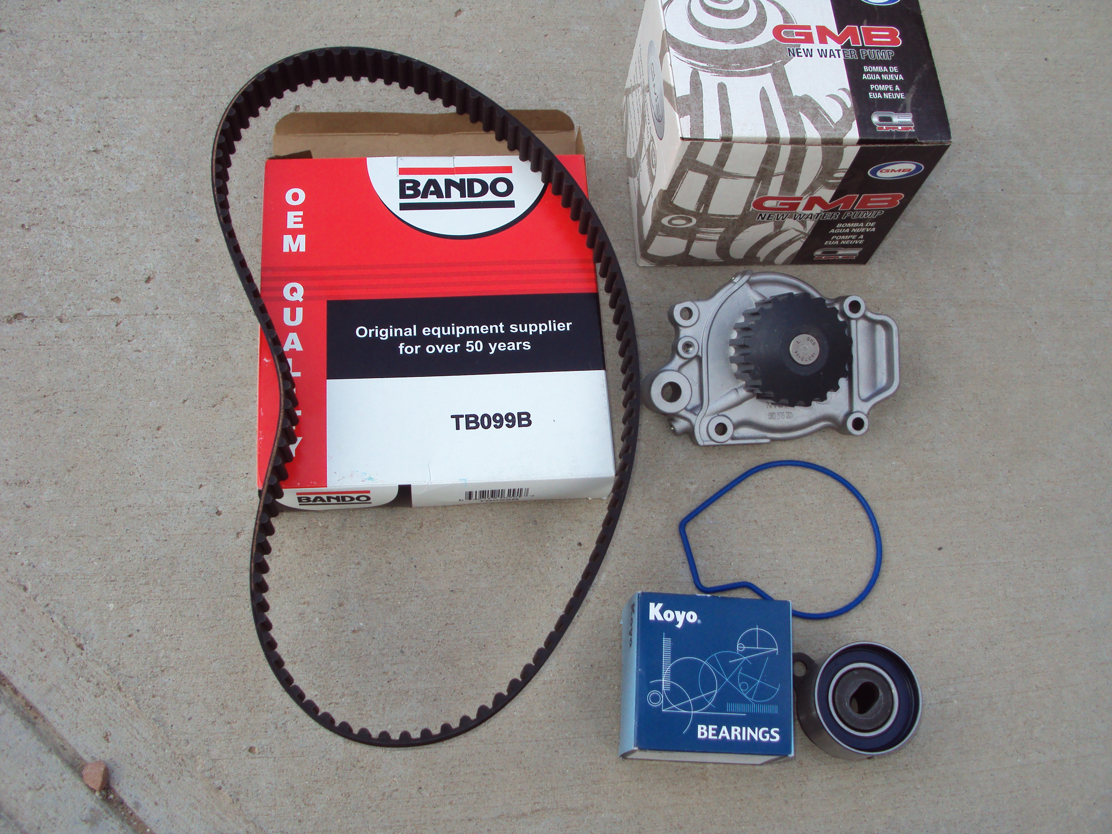 Timing belt kit for 85-87 civic/crx